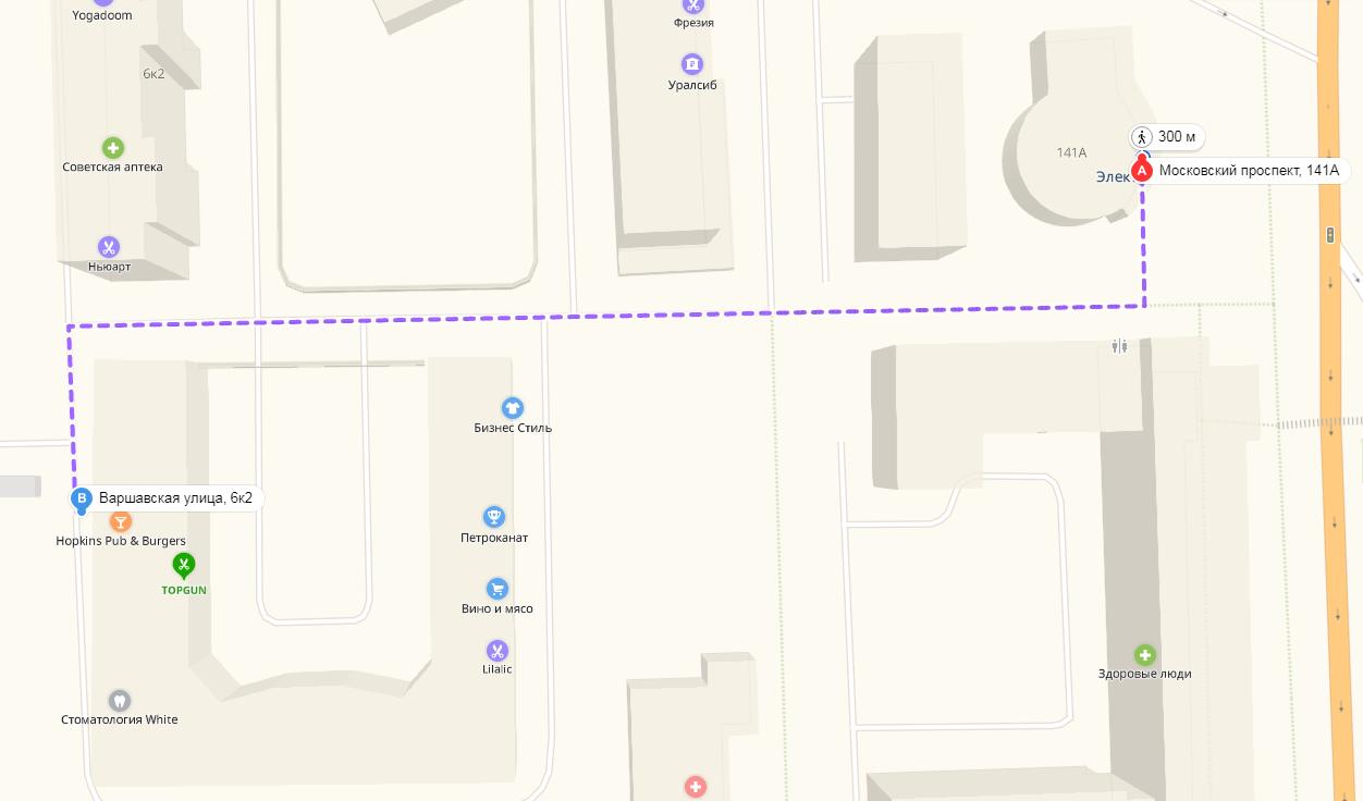 Карта от метро